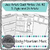 Jazz Artist Quick Writes Set #2