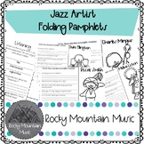 Jazz Artist Research Flipbooks
