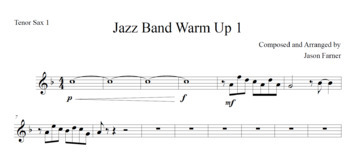 Jazz Band Warm Up 1_Score and Parts