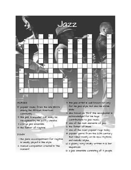 Jazz Crossword