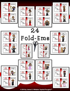Jazz Figures of Black History Mini Fold-Ems and Activities