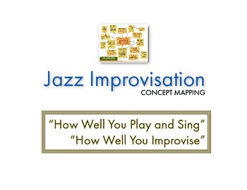 Jazz Improvisation (Concept Mapping): How Well You Improvise (Play or Sing)