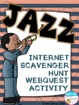 Jazz Internet Scavenger Hunt WebQuest Activity