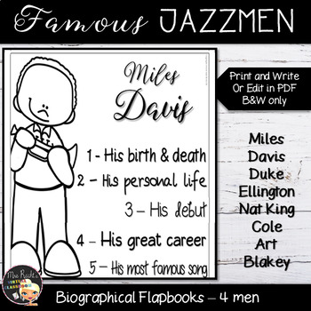Jazz Men Editable Flapbooks