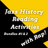 History of Jazz Music Passages and Jazz Music History Worksheets Using Rap Songs