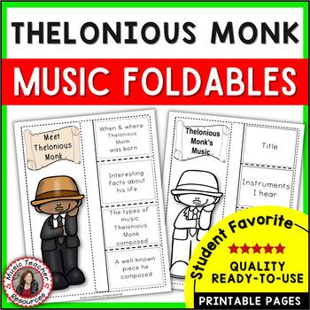 Jazz Musician: African American Jazz Musician Thelonious Monk  - Music Listening