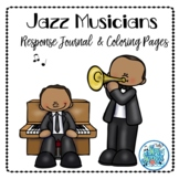 Jazz Musician Response Journal and Coloring Pages