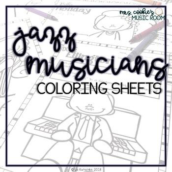 Jazz Musicians Coloring Sheets