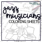 Jazz Musicians Coloring Sheets