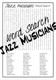 Jazz Musicians Word Search