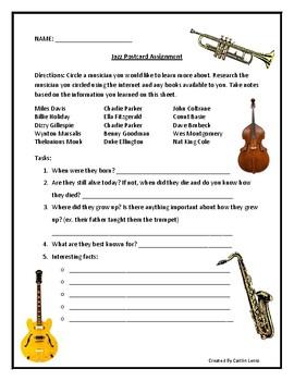 Jazz Postcard Assignement