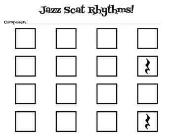 Jazz Scat Rhythm Composition Project
