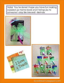 Jazzed Up Memo Books Tutorial