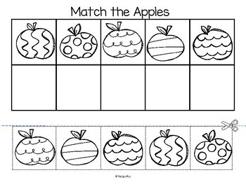 Jazzy Apples – Matching Centers and Activity Printables - Spatial Awareness