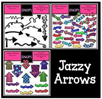Jazzy Arrows Clip Art Bundle {Educlips Clipart}