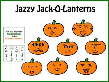 Jazzy Jack-o-Lanterns Music Symbols Bulletin Board Kit