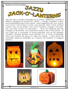 Jazzy Jack-o'-lanterns (Destination: Imagination via Creative Thinking)