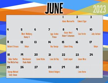 Jazzy June Musicians -- Music Bulletin Board Set