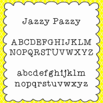 Jazzy Pazzy Font {personal and commercial use; no license needed}
