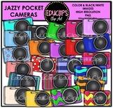 Jazzy Pocket Cameras Clip Art Bundle {Educlips Clipart}