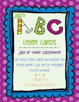 Jazzy Word Wall Cards