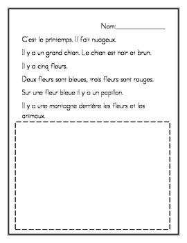 Je Lis et je dessine - Le Printemps