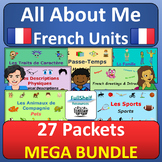 Je Me Présente / All About Me Units: French Basics MEGA BUNDLE