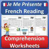 French Reading Comprehension Worksheets Je Me Présente