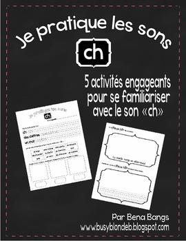 """{Je Pratique les Sons - """"CH""""} Activités de langage pour pr"""