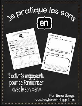 """{Je Pratique les Sons - """"EN""""} Activités de langage pour pr"""