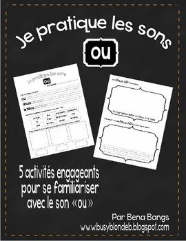 """{Je Pratique les Sons - """"OU""""} Activités de langage pour pratiquer le son OU"""