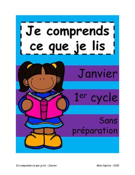 Je comprends ce que je lis - 1er cycle - Janvier