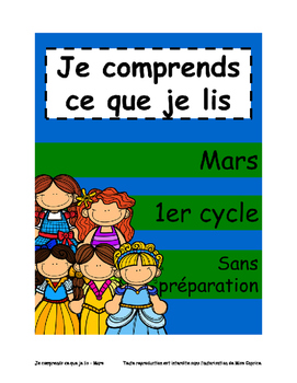 Je comprends ce que je lis - 1er cycle - Mars