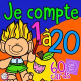 FRENCH BOOM CARDS • Je compte de 1 à 20