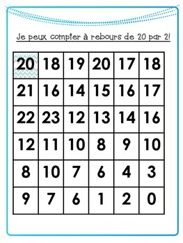 Counting by 2s in French