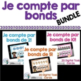 Je compte par bonds: French Skip Counting Digital Task Cards BUNDLE  -BOOM CARDS