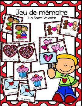Jeu de mémoire - St. Valentin