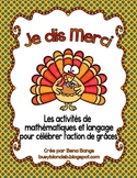 {Je dis Merci!} Activités de math et langage pour célébrer l'action de grâces
