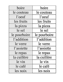 Je l'ai French Vocab game