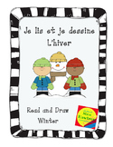 Je lis et je dessine - L'hiver  Winter themed read and draw