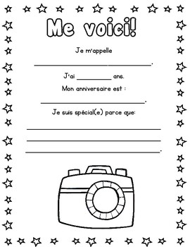 Je me présente! All about me! (FRENCH)