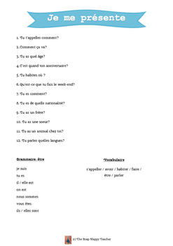 Introductory French Questions