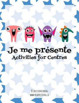 Je me présente : French task / activity cards for centres
