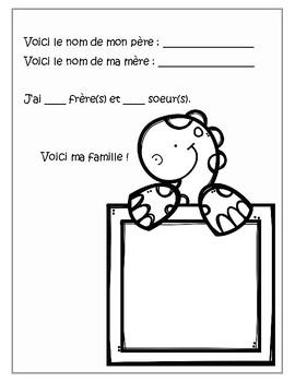 Je me présente - activité d'accueil en français