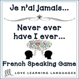 French speaking game - Je n'ai jamais -  For beginners and