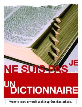 Je ne suis pas un dictionnaire / I am not a dictionary (Fr