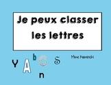 Je peux classer les lettres