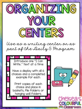 Writing Centers (Je peux écrire / I Can Write) - FRENCH and ENGLISH