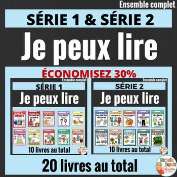 Je peux lire -   20 LIVRETS -  French Emergent Reader Mini Books - MEGA BUNDLE