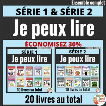 Je peux lire -   20 LIVRETS -  French Emergent Reader Mini